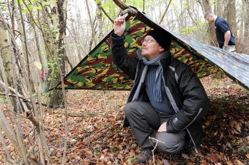 Creating a shelter: hostile environments training photo