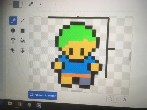 It's a mini-me - pixel art Sean