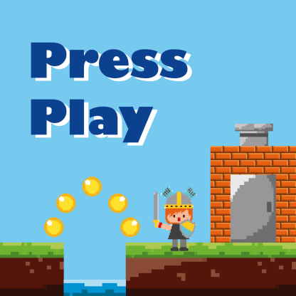 Cover art for the Press Play sound pack