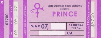 Prince virtual website ticket