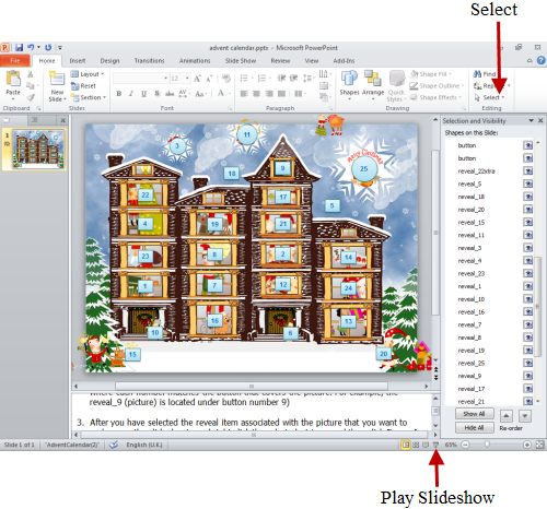 How To Make An Advent Calendar On Your Computer Using Powerpoint