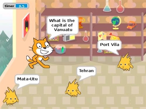 Screenshot of the Capital City Quiz