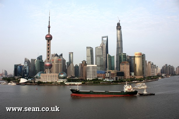 Photo of the Shanghai Pudong skyline by day