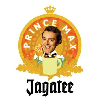 Jagatee by Prince Max, who looks like a white man in a beer stein