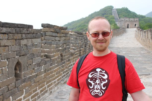 Sean on the Great Wall of China